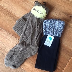 New with Tags Boot Socks - 2 Pair